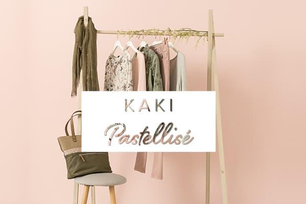 La collection Kaki pastellisé Grain de Malice, vêtement pour femme