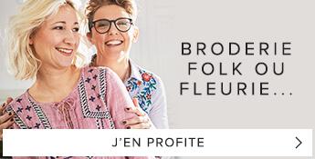 Broderie folk ou fleurie