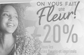 -20% sur les articles fleuris et imprimés