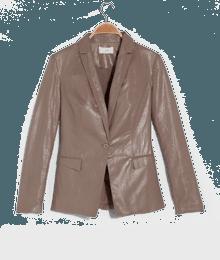 Veste femme tailleur lin irisé Marron