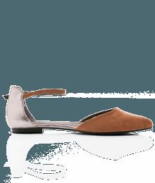 Chaussures femme ballerines a brides Marron