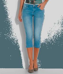 Corsaire femme slim Bleu