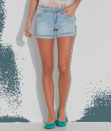 Short femme court en jean Bleu