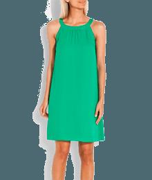 Robe unie  col bijou Vert-Kaki