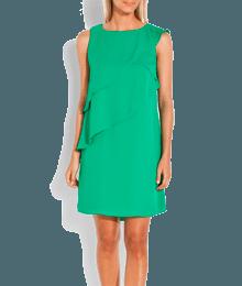 Robe volantée unie Vert-Kaki