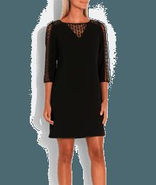 Robe noire dentelle Noir