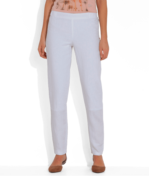pantalon femme en lin blanc grain de malice. Black Bedroom Furniture Sets. Home Design Ideas