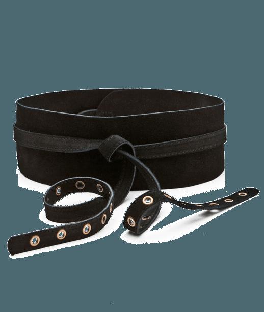 ceinture taille femme en cuir noir grain de malice. Black Bedroom Furniture Sets. Home Design Ideas