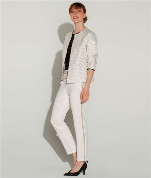 pantalon femme smoking blanc grain de malice. Black Bedroom Furniture Sets. Home Design Ideas