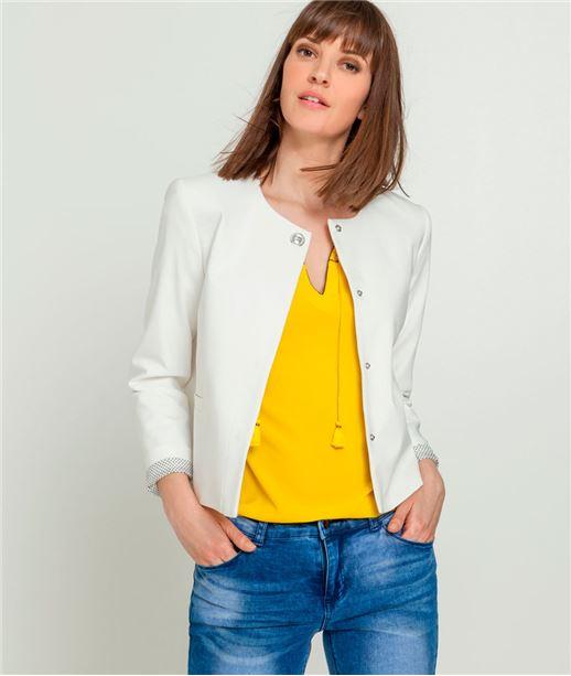 Veste femme forme boite BLANC CASSE