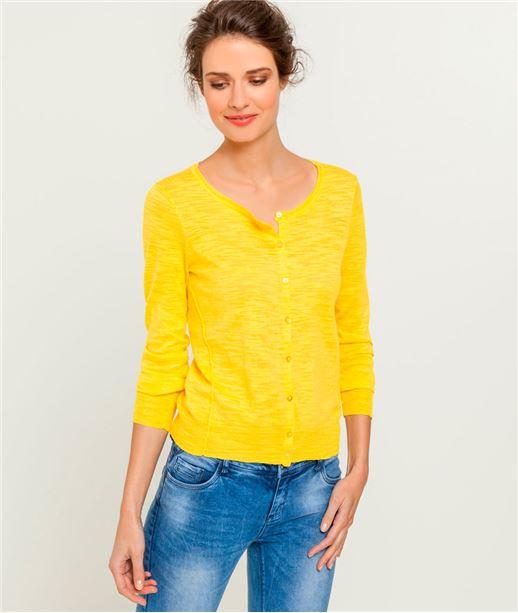 grain de malice pulls gilets sweats jaune mode femme. Black Bedroom Furniture Sets. Home Design Ideas