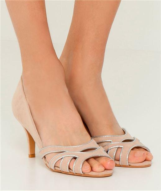 Chaussures femme escarpins ouverts (photo)