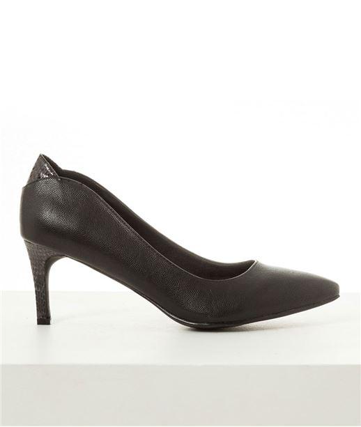 Escarpins Faux Cuir Noir Femme T37 (photo)