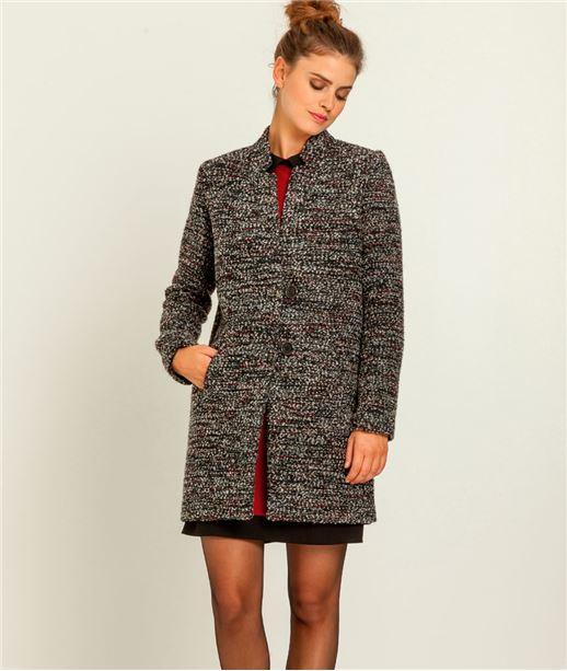 Manteau femme bouclette GRIS