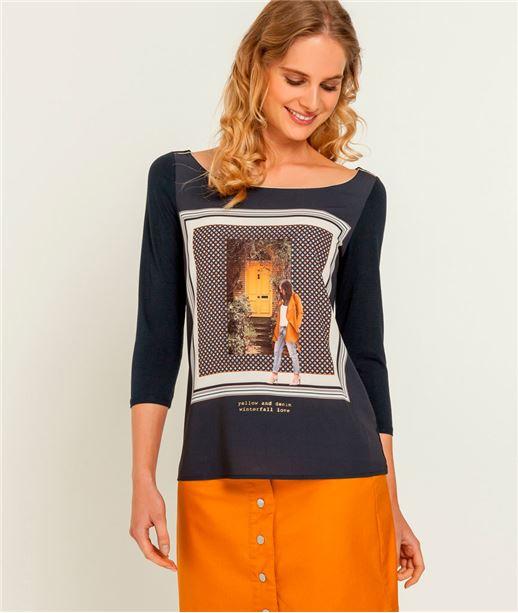 T-shirt femme photo placé MARINE