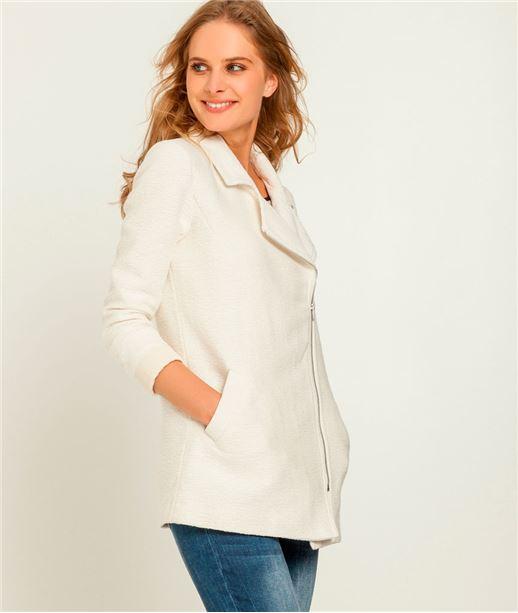 Manteau femme forme perfecto ECRU