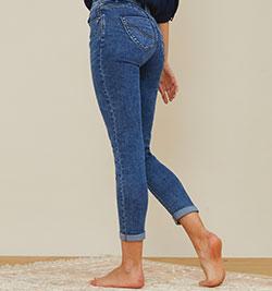 jeans raccourcis