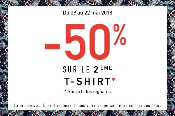 opération -50% sur le 2eme t-shirt grain de malice