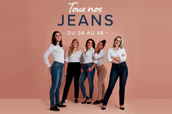 a16c235be2bcd Jean femme, Jean Slim, Jean Taille Haute - Grain de Malice