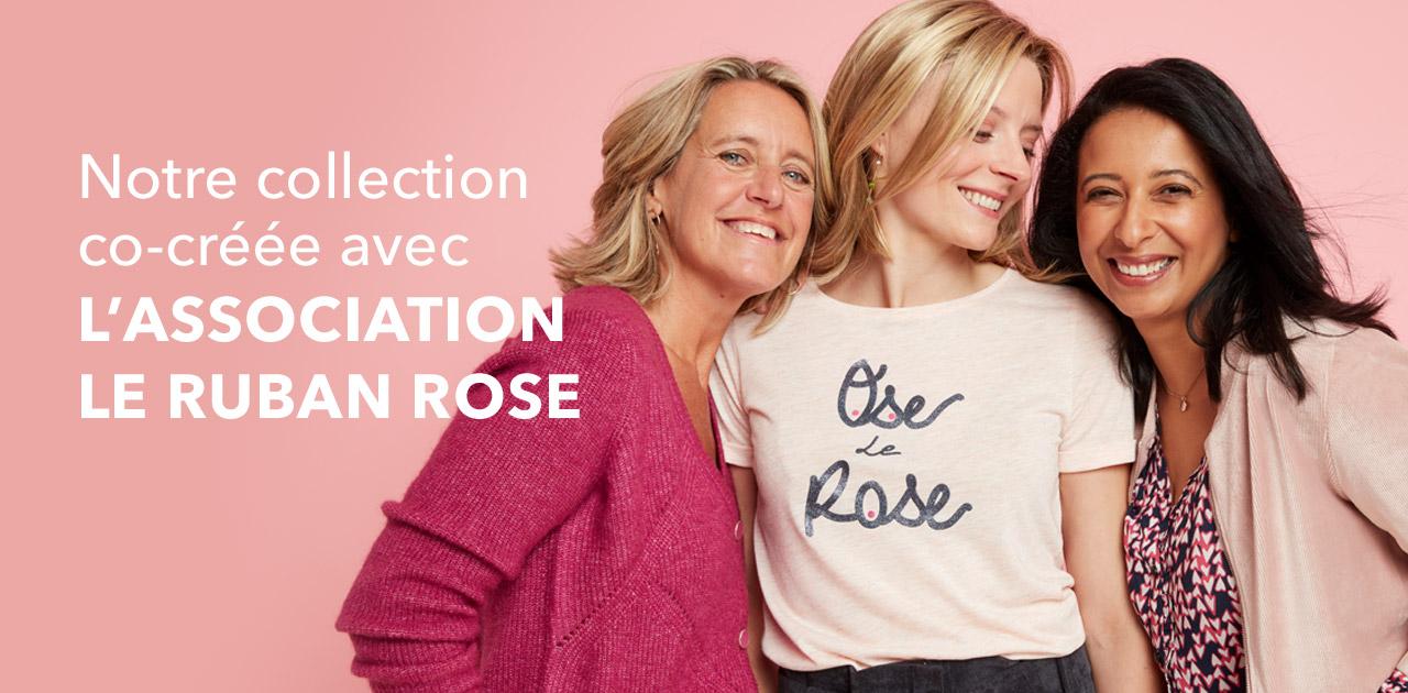 Notre collection co-créée avec l'association le Ruban Rose