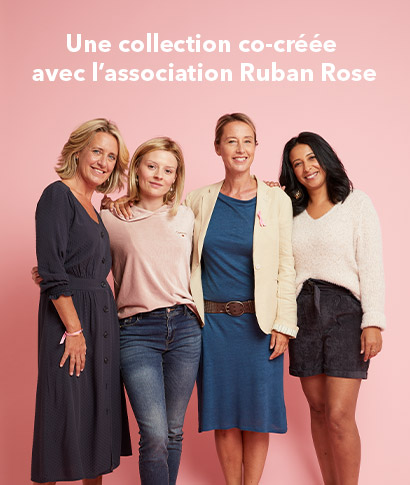 Une collection co-créée avec l'association Ruban Rose